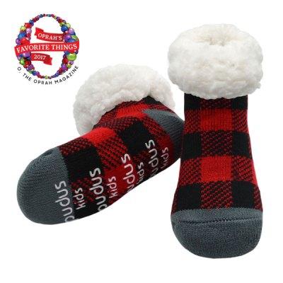 Kids Lumberjack Slipper Socks