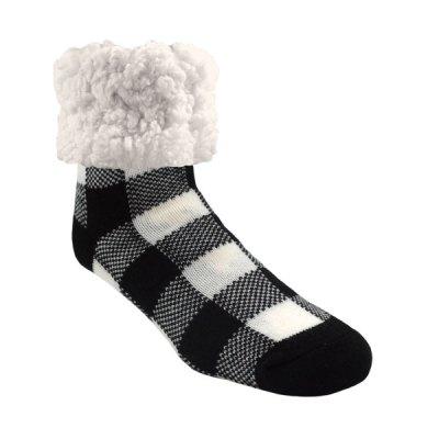 Pudus Classic Slipper Socks - Lumberjack White