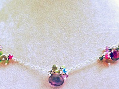 "17"" Gemstone Necklace"