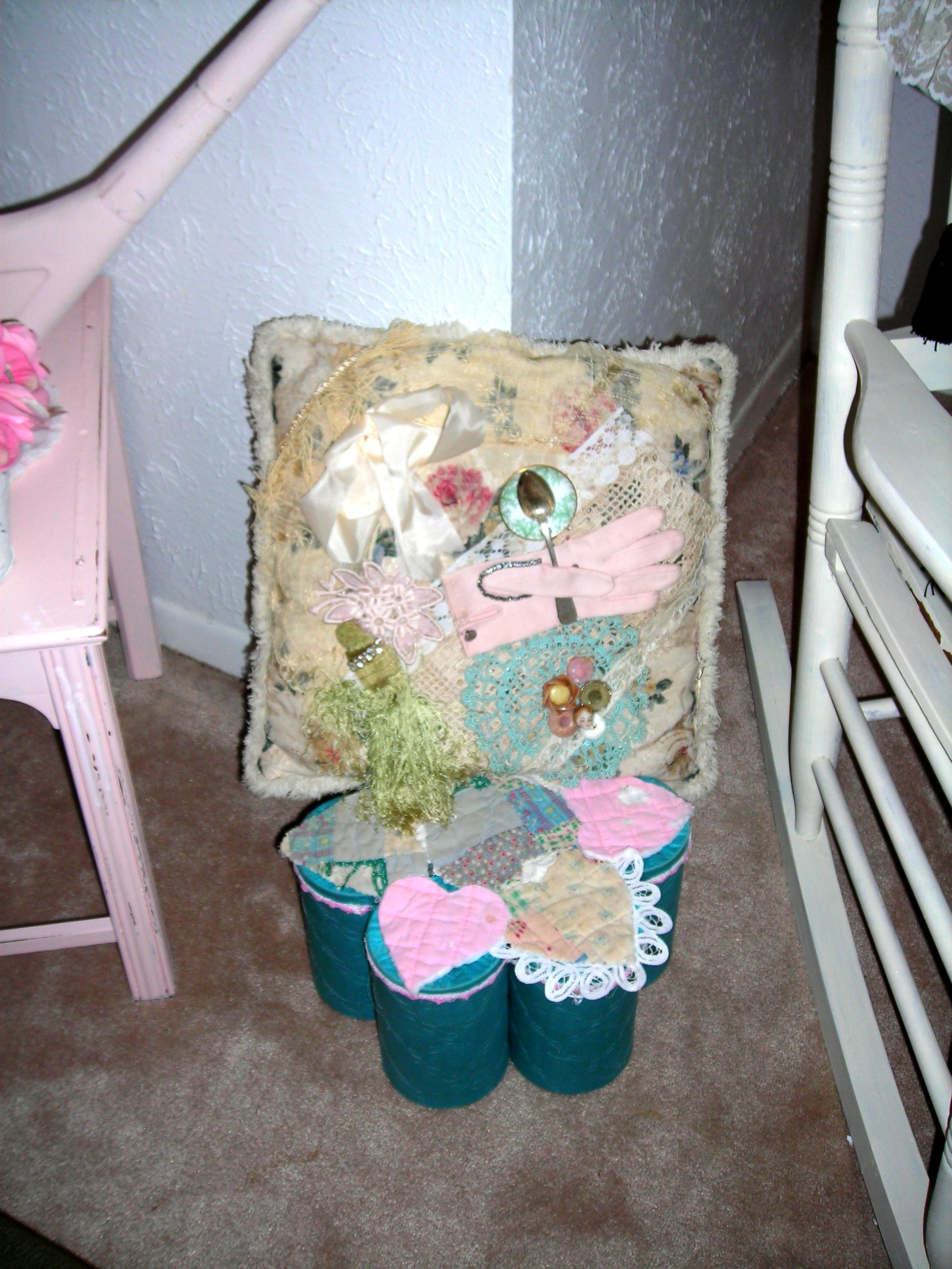 Hand-crafted pillow (I LOVE Sue\'s stuff!!!)