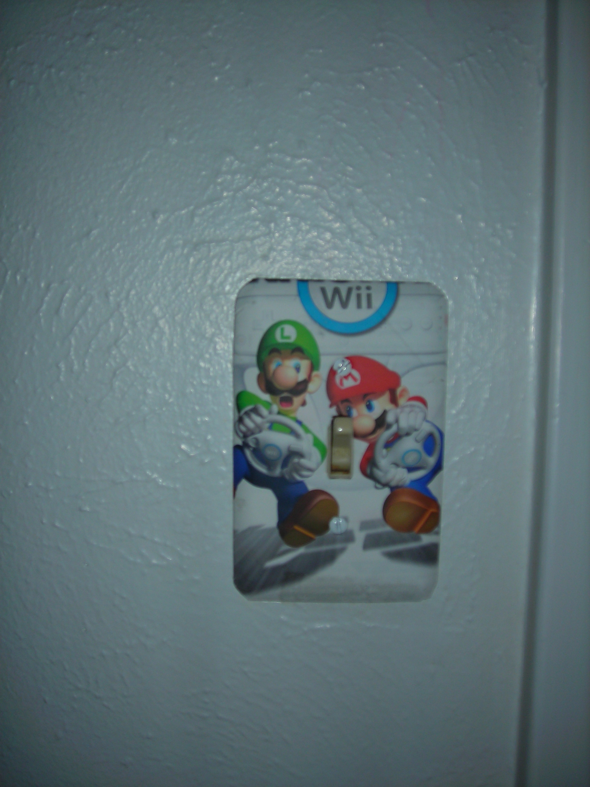 okay, i covered the light switch with a mario and luigi pic