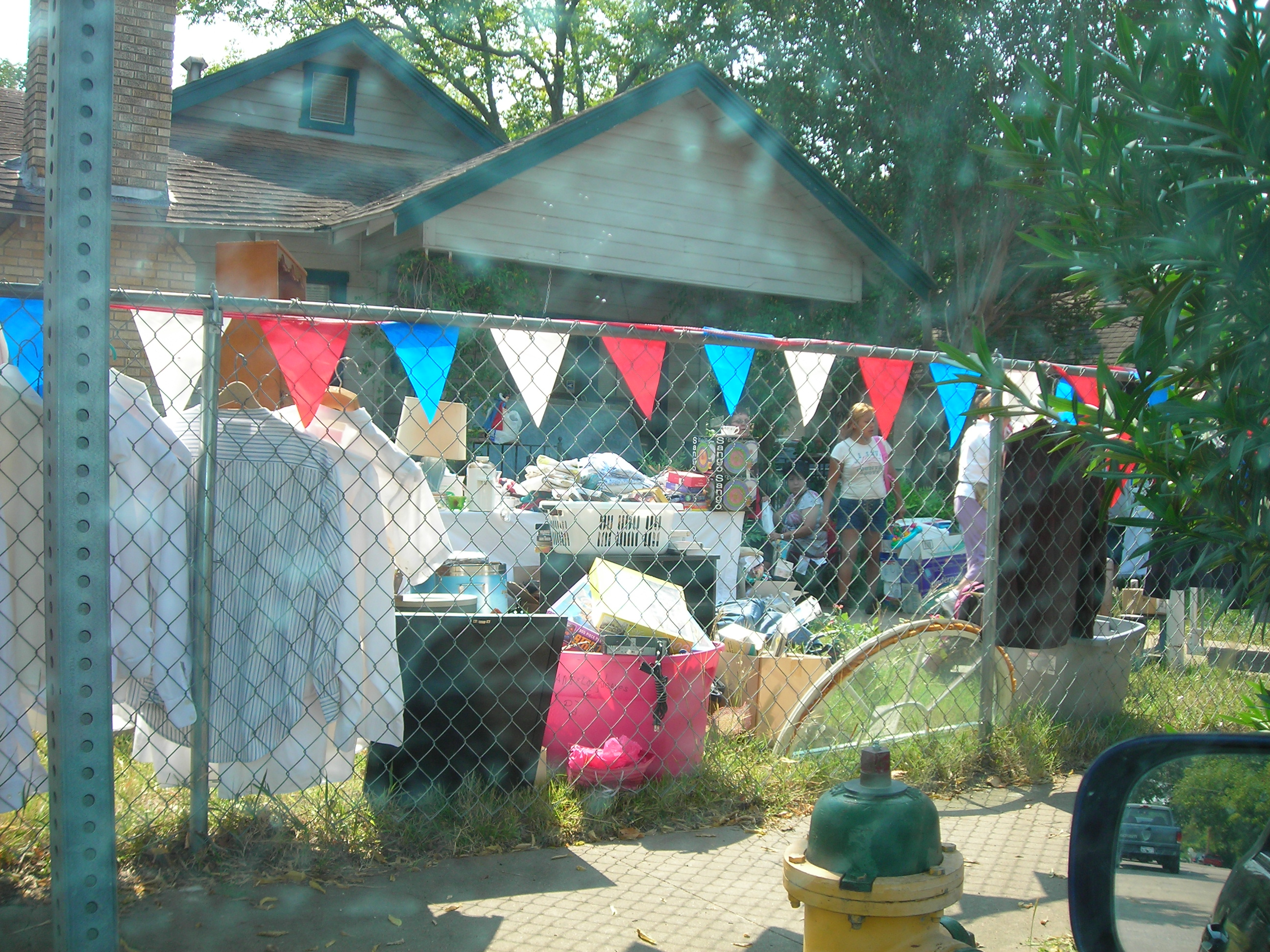 chigger-infested yard sale