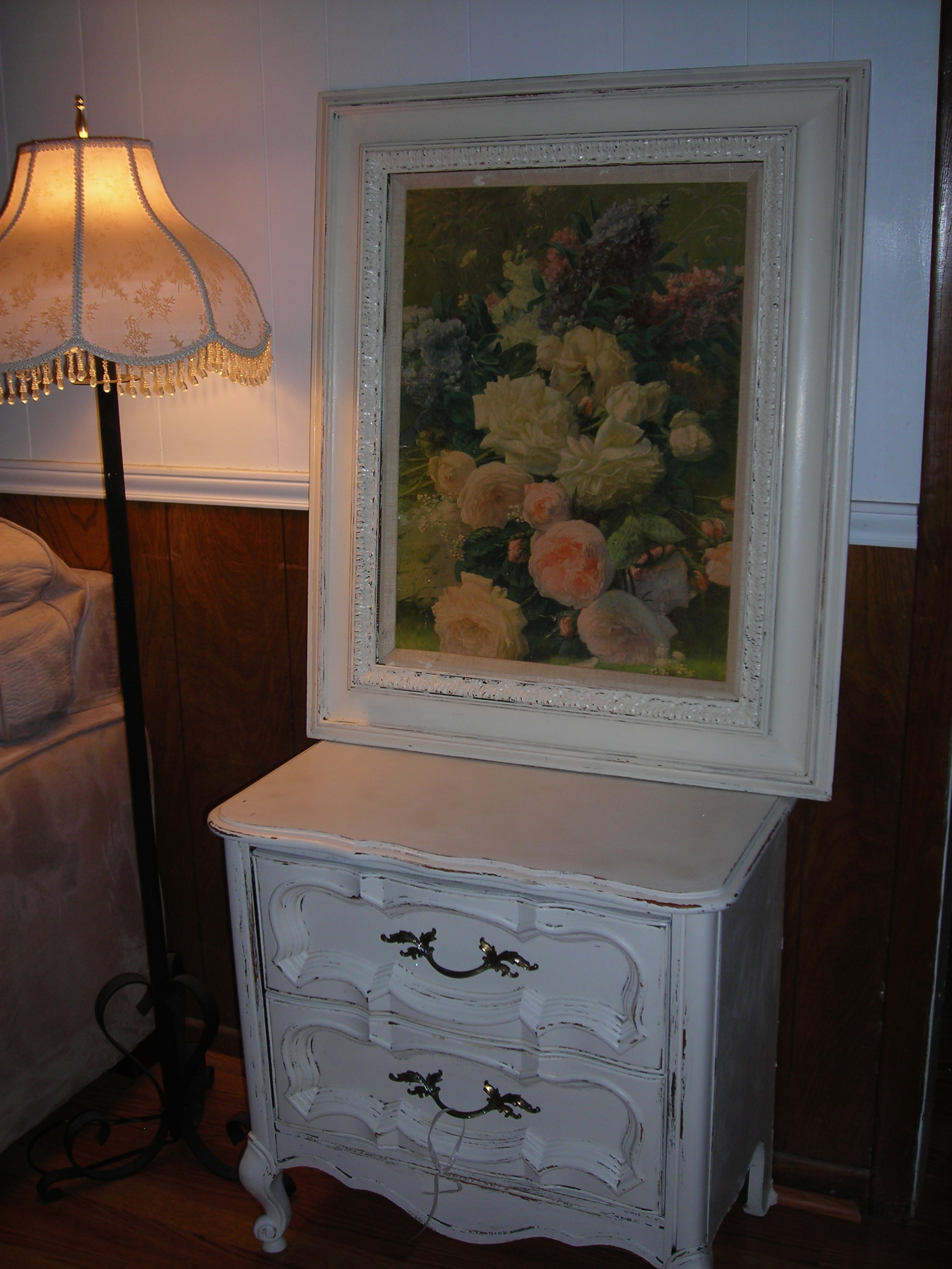 The little dresser is Sue's magic. The picture and frame are from Sue as well