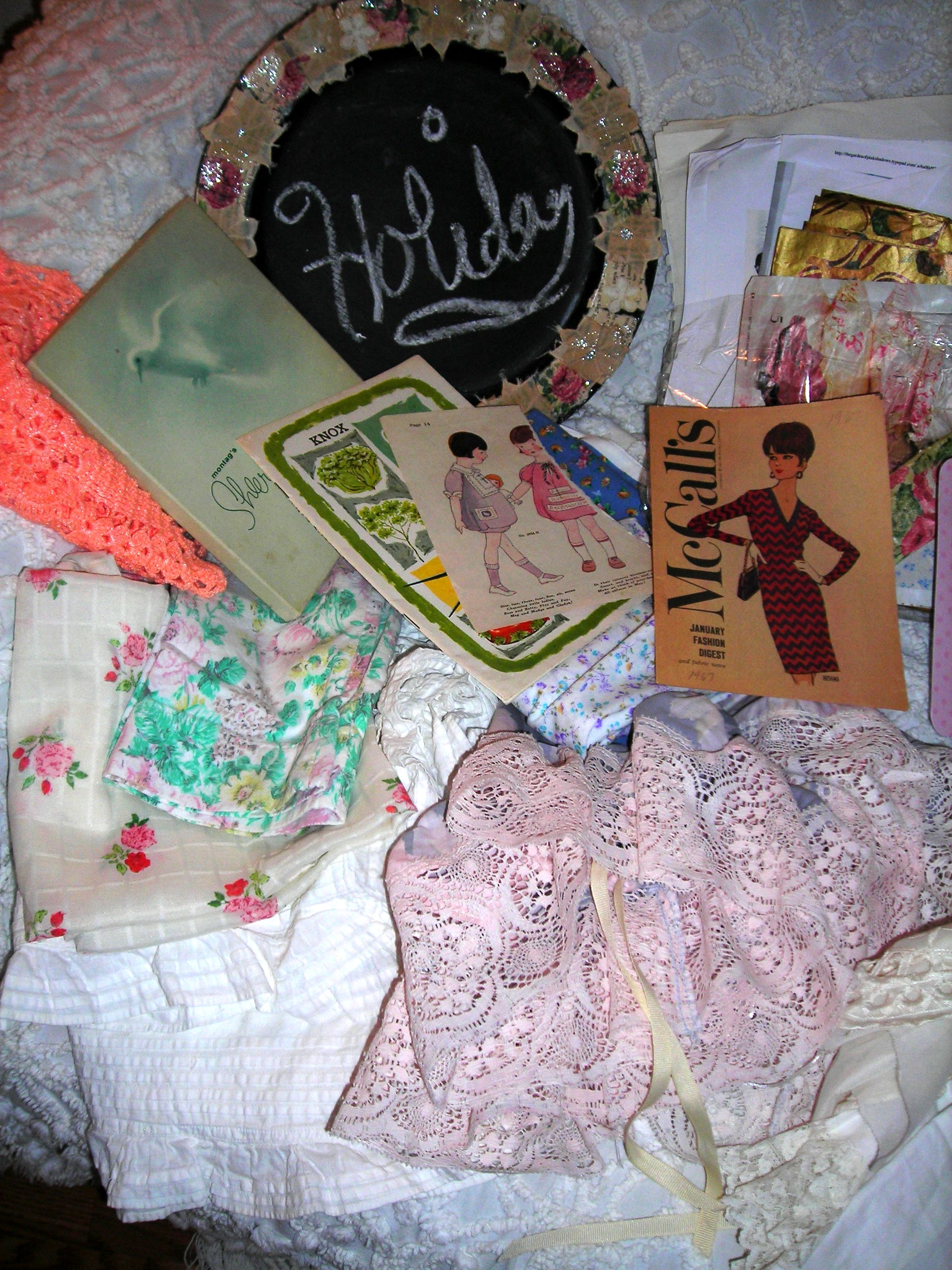 piles of goodies from sue