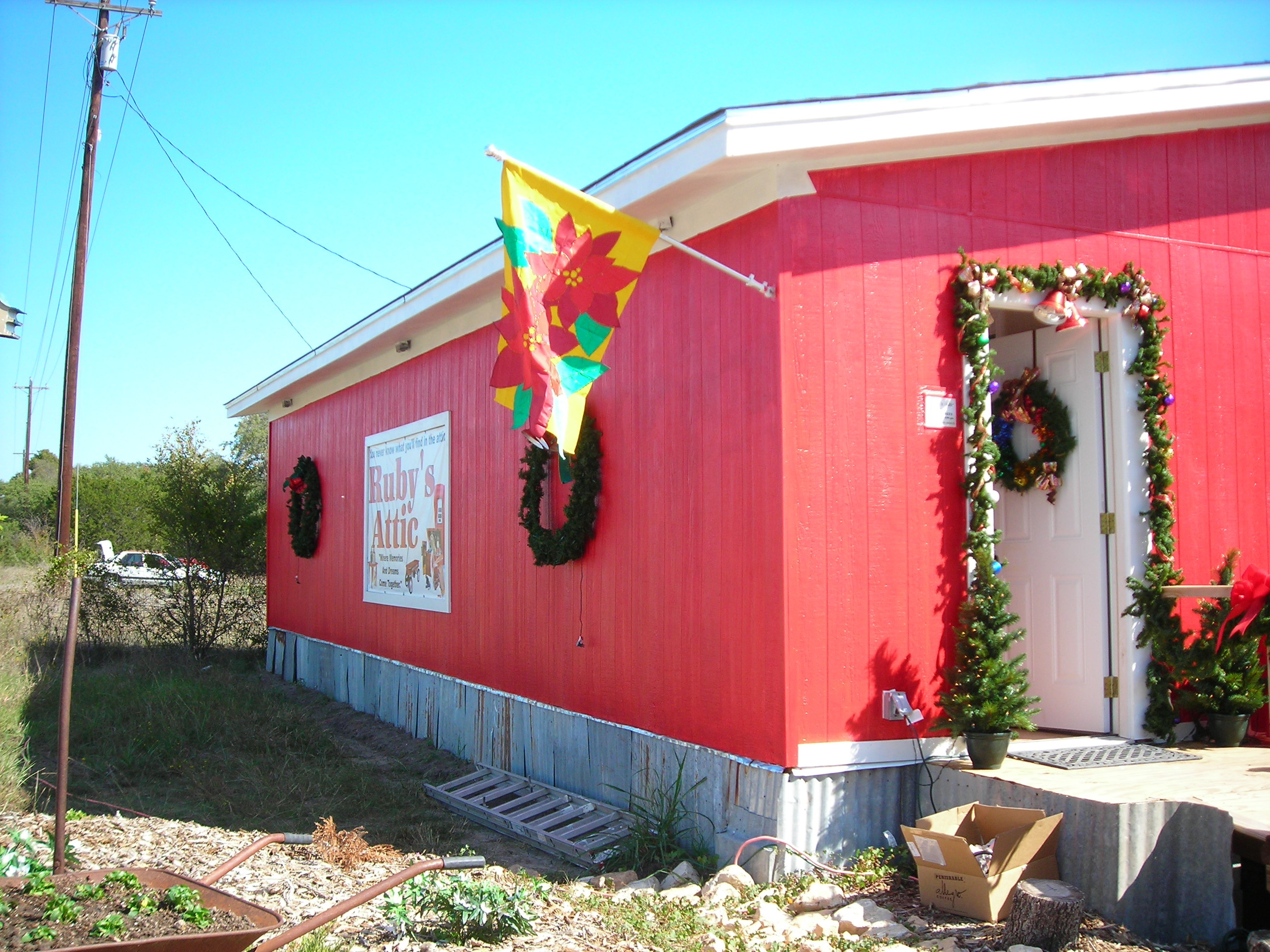 one of our first stops was ruby's attic