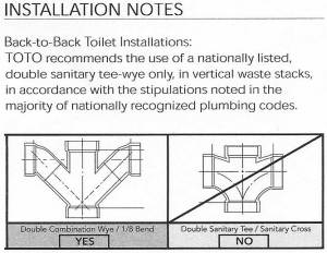 Back to back toilet drain issue | Terry Love Plumbing & Remodel DIY & Professional Forum