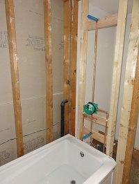 Acrylic tub installation with Hansgrohe tub shower valve ...