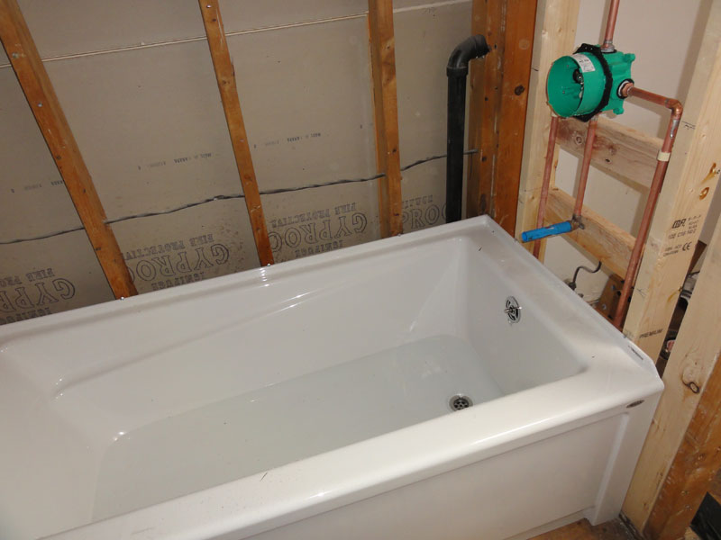 Mortar Bed Under Fiberglass Whirlpool Tub How Thick