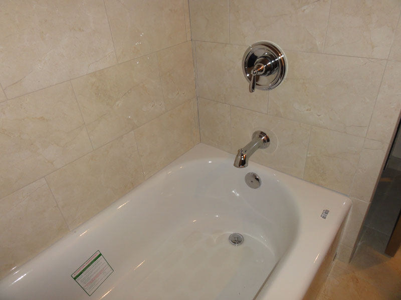 American Standard Princeton tub with Moen PosiTemp  Terry Love Plumbing  Remodel DIY