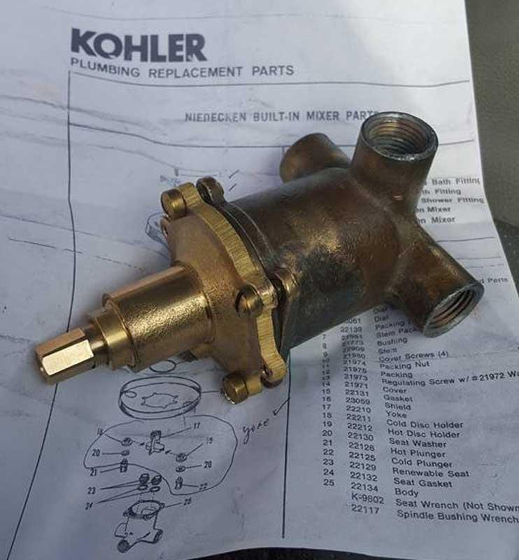 Kohler Niedecken Need information on very old shower