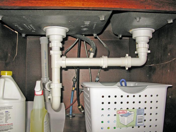dishwasher gurgling through sink