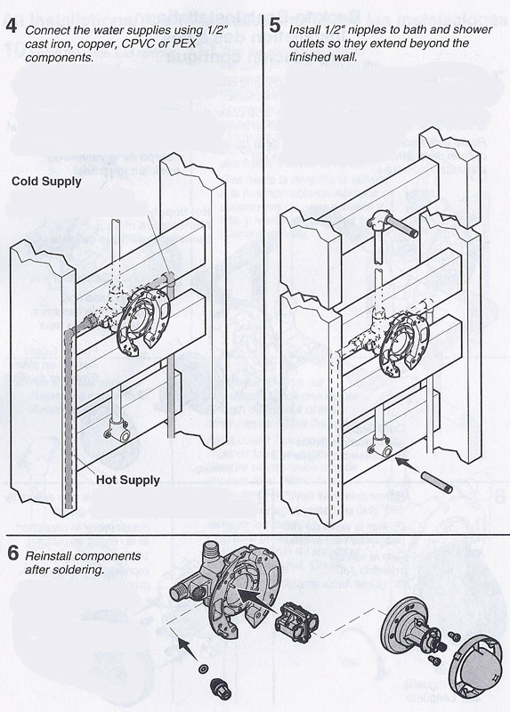 install shower plumbing diagram for white rodgers fan center relay wiring installing a k-304 kohler rite-temp bath & valve. | terry love remodel diy ...