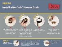 """Oatey """"no-caulk"""" drain leaking in shower w/ acrylic pan ..."""