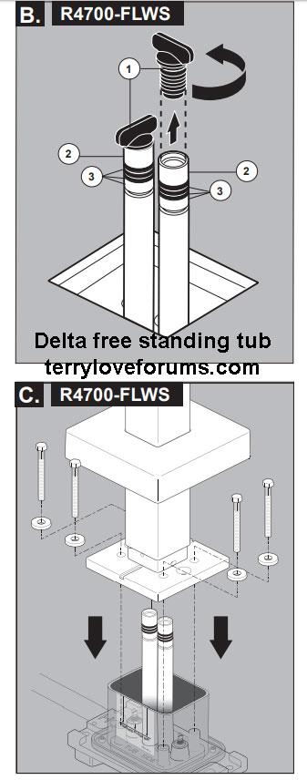freestanding tub filler water shut