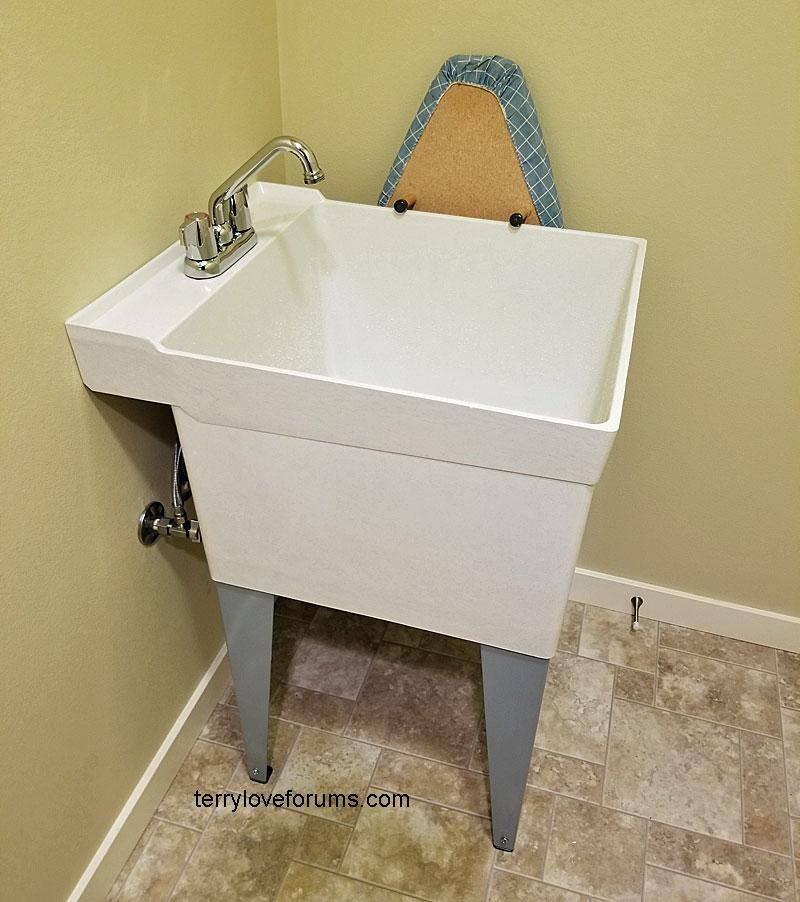 laundry utility sink drain size