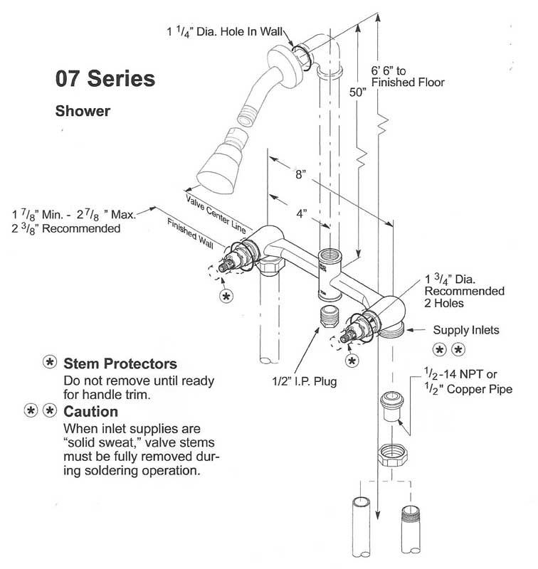 Pfister Or American Standard 2 Handle Shower Valves Terry Love Plumbing Amp Remodel DIY