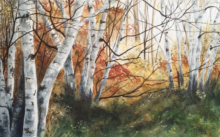 """""""Into the Light"""" Watercolor 6 x 9.5 on Arches 140# CP"""