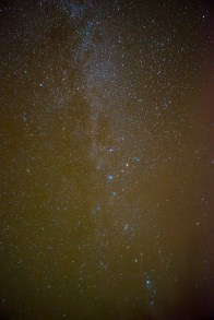 Milky Way directly overhead. © 2013 Terry Ownby. Nikon D800, 28mm/f3.5, 30s, ISO 2000