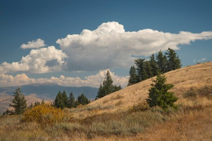Looking east across the Portneuf Valley to the Pocatello Range.