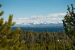 West Thumb of Yellowstone Lake and Absaroka Range.