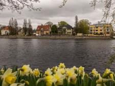 View across the Klarälven River in Karlstad, Sweden