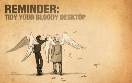 Good Omens: Tidy Your Desktop by The Animagess