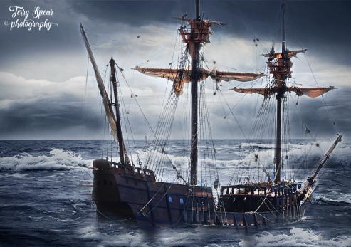 Stormy sea ship waves 900 San Diego 359