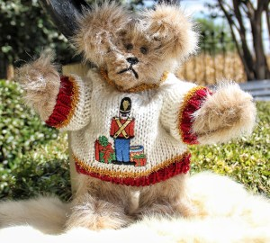 Little Tin Soldier for Christmas Sweater Bear