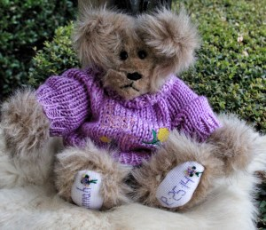 Purple Sweater Bear