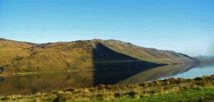 Shadow on Hill and Reflection in Water