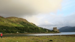 Vonda taking a picture of me taking a picture of Eilean Donan