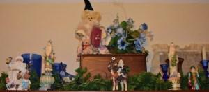 Blue Santas and Wolf