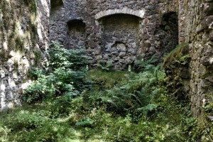 Inside Invergarry Castle ruins