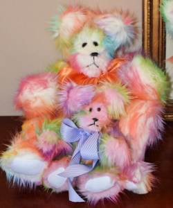 momma sherbet and baby pink rainbow bear 002 (534x640)