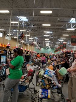 grocery store before Hurrican Harvey