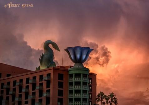 Orlando Disney dolpin and sunset detailed RWA 2017 900 3184
