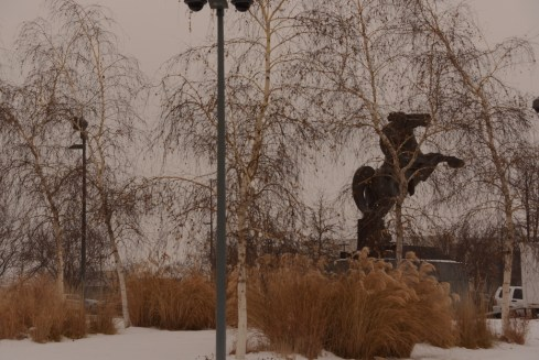 birch trees and statue (1024x684)