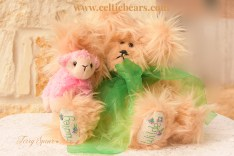 Brownie Bear with bunny sweater and Honey bear green bow 1000 006