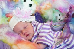 Baby in purple and teddy bears 1000 022