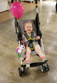 baby shopping all smiles