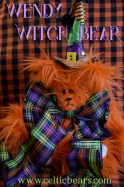 Wendy Witch Bear Witch's hat Halloween 1000 005