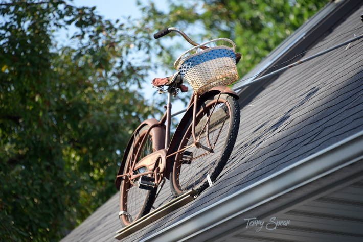 bike on a roof 1000 Minnesota 4071