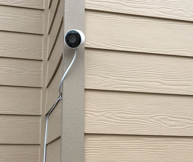 Nest Cam Outdoor mounted