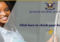 Kumasi Technical University 2020/2021 Admission List