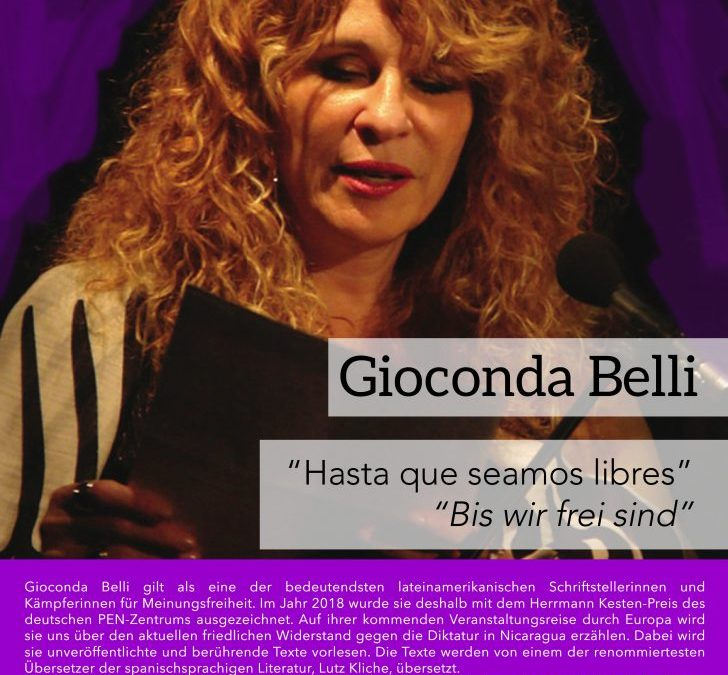 01.04.2019 Gioconda Belli en Freiburg