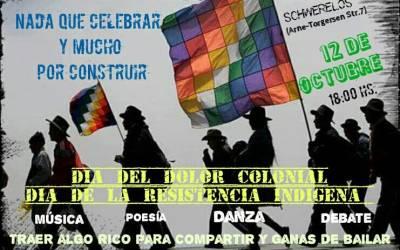 Nos adherimos al Manifiesto Descolonicémonos :»12 de octubre, Nada que celebrar»