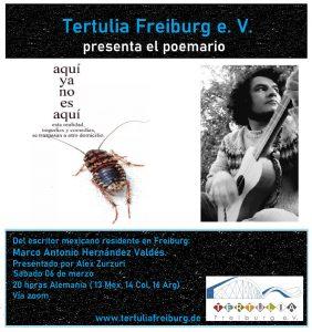 Presentación del poemario de Marco Antonio Hernández