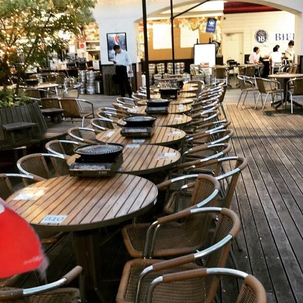 「屋上ビアガーデン」(東武百貨店池袋店8階屋上)で楽しむ