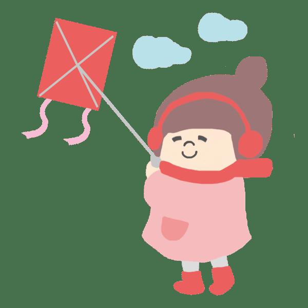 凧上げは、正月の空に映えて、子供の笑顔と声が溢れます