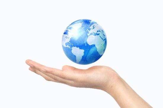 掌の上の地球